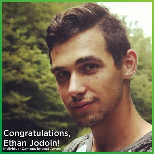Congratulations to Ethan Jodoin for being awarded the Individual Campus Impact award from Student Life Leadership! Ethan is a Research Assistant on Domicology, focusing on Extended Producer Responsibility.